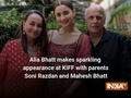 Alia Bhatt makes sparkling appearance at KIFF with parents Soni Razdan and Mahesh Bhatt