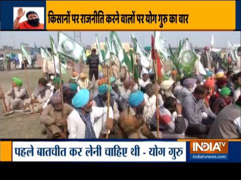 Protesting farmers gather at Delhi-Noida border