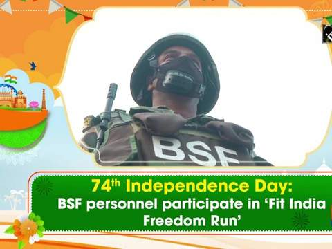 74th Independence Day: BSF personnel participate in 'Fit India Freedom Run'