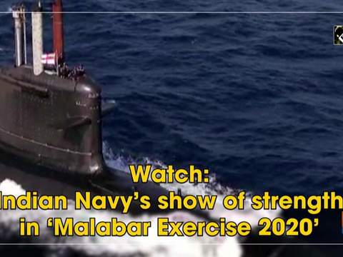 Watch: Indian Navy's show of strength in 'Malabar Exercise 2020'