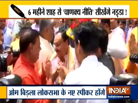 भाजपा के राष्ट्रीय कार्यकारी अध्यक्ष जेपी नड्डा संसद में पहुंचे