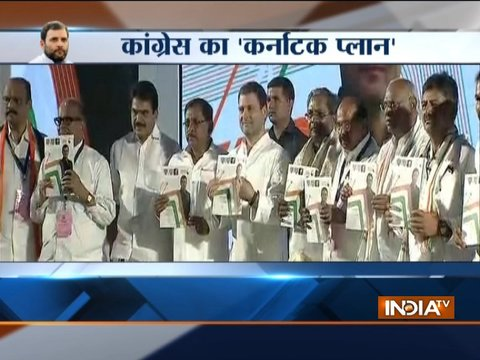 Karnataka elections: Rahul Gandhi releases Congress' Assembly poll manifesto