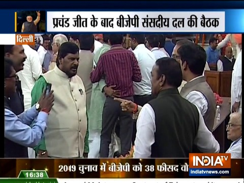 Leaders arrive for NDA parliamentary party meet