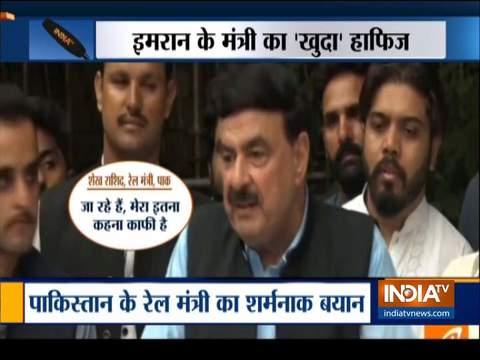 पाकिस्तान के मंत्री ने हाफिज सईद का समर्थन करते हुए कहा कि वह दहशतगर्द नहीं है