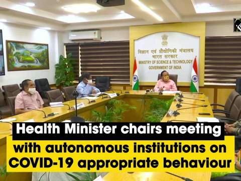 Health Minister chairs meeting with autonomous institutions on COVID-19 appropriate behaviour