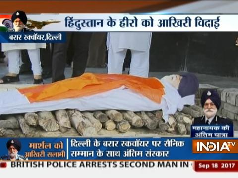 With flypast,17-gun salute and half-mast flag host, nation bids adieu to Marshal of IAF Arjan Singh