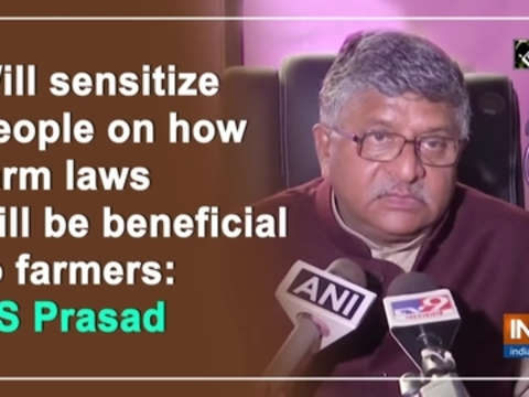 Will sensitize people on how farm laws will be beneficial to farmers: RS Prasad