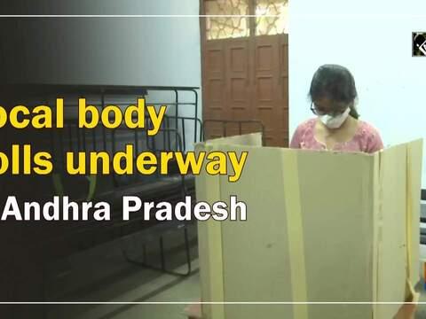 Local body polls underway in Andhra Pradesh