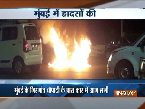 Mumbai: Car catches fire near Girgaon Chowpatty, no causality