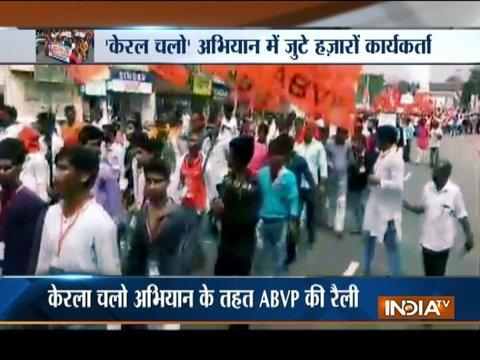 ABVP takes out march against killing of its workers in Kerala