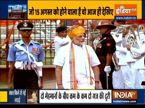 दिल्ली का लाल किला स्वतंत्रता दिवस के जश्न के लिए तैयार