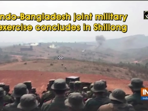 Indo-Bangladesh joint military exercise concludes in Shillong