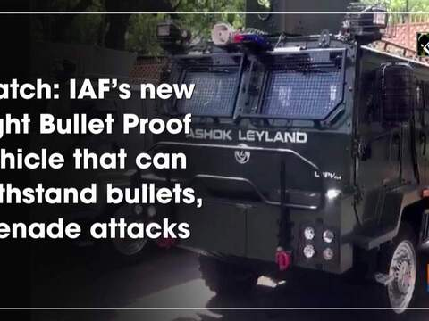 Watch: IAF's new Light Bullet Proof Vehicle that can withstand bullets, grenade attacks