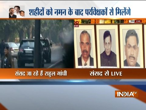 Delhi: Political leaders pay tribute to people who lost their lives in the terrorist attack on Parliament