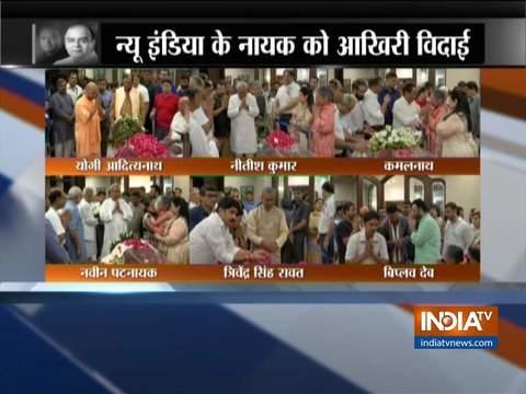 पूर्व वित्त मंत्री अरुण जेटली को नेताओं की श्रद्धांजलि