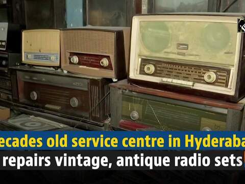 Decades old service centre in Hyderabad repairs vintage, antique radio sets