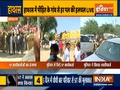 Hathras case: SP workers lathicharged by police for blocking roads, pelting stones