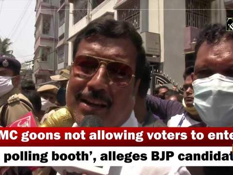 'TMC goons not allowing voters to enter at polling booth', alleges BJP candidate