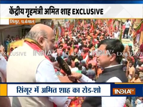 Big News Of This Hour | Amit Shah holds a roadshow in Bengal's Singur