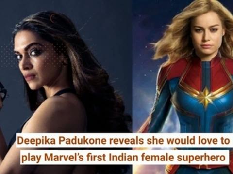 Deepika Padukone reveals she would love to play Marvel's first Indian female superhero
