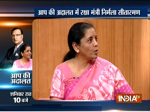 Watch Promo ll: Defence Minister Nirmala Sitharaman in Aap Ki Adalat at 10 PM on Saturday