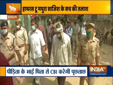 CBI brings Hathras victim's brothers and father to camp office for interrogation