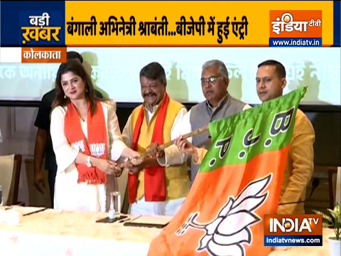Bengali actor Srabanti Chatterjee joins BJP