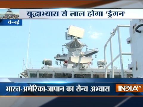 Malabar naval exercise by India-US-Japan Ready For drills in Indian Ocean