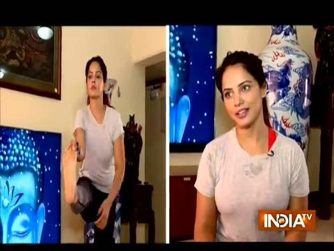 Watch actress Neetu Chandra performing different Yoga asanas on International Yoga Day