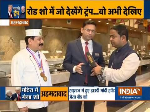 साबरमती आश्रम शाकाहारी भोजन और गुजराती व्यंजनों के साथ ट्रम्प का स्वागत करने के लिए तैयार