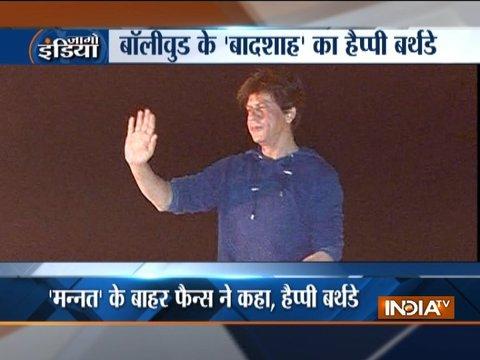 Shah Rukh Khan turns 53, greets fans outside Mannat
