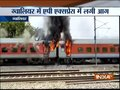 Two coaches of 22416 AP Express catch fire near Birlanagar station in Gwalior; all passengers safe