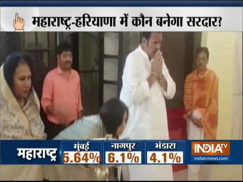 Maharashtra Assembly Polls: Udayanraje Bhosale offers prayers ahead of casting his vote