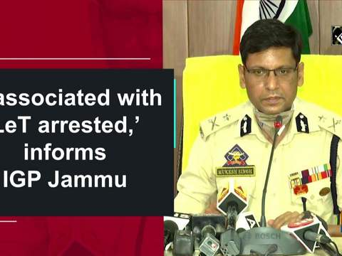 '6 associated with LeT arrested,' informs IGP Jammu