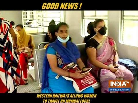 Railways finally allow women to travel on Mumbai suburban trains
