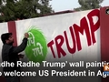 'Radhe Radhe Trump' wall paintings to welcome US President in Agra