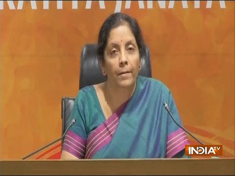 It sounds like 'Rhetoric of a loser devoid of substance' : Nirmala Sitaraman on Congress