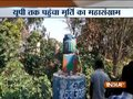 Ambedkar's statue vandalised in Mawana district; police install new statue soon after incident