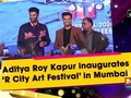 Aditya Roy Kapur inaugurates 'R City Art Festival' in Mumbai