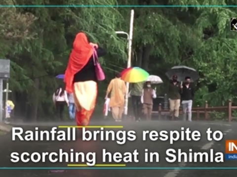 Rainfall brings respite to scorching heat in Shimla