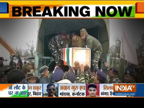Pulwama Terror Attack: Mortal remains of martyrs sent to native lands, Nation seeks revenge from Pakistan