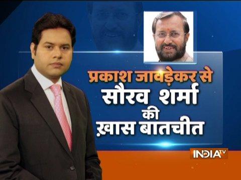 India TV- Lokmat Conclave: प्रकाश जावेड़कर से सौरव शर्मा की खास बातचीत