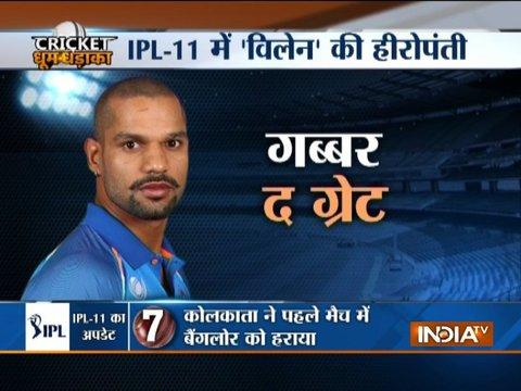 IPL 2018: Shikhar Dhawan helps Sunrisers Hyderabad tame Rajasthan Royals on return
