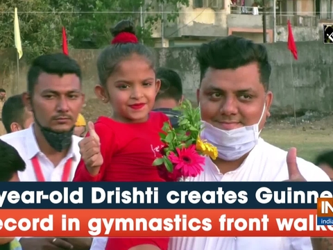 7-year-old Drishti creates Guinness record in gymnastics front walker