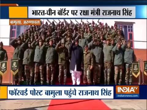 भारत-चीन बॉर्डर पर जवानों से मिले रक्षामंत्री राजनाथ सिंह
