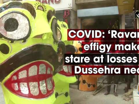 COVID: 'Ravana' effigy makers stare at losses as Dussehra nears