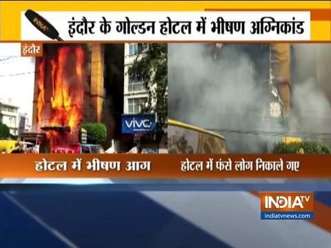 इंदौर के एक होटल में लगी भीषण आग, भिवंडी के गोदाम में भी लगी आग