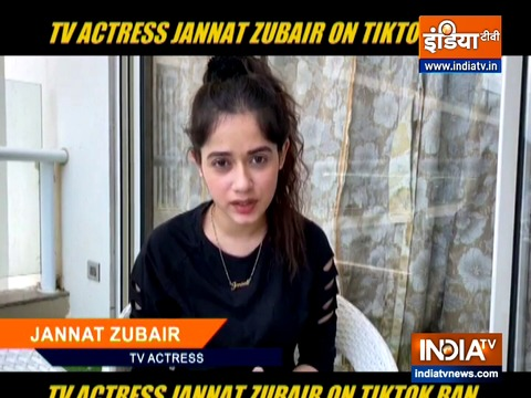 TikTok star Jannat Zubair reacts to ban of chinese app