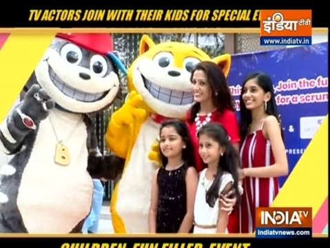 TV actors join their kids in the fun filled event for children