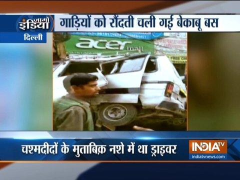 Delhi: DTC bus rams several vehicles, 3 injured